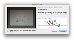 Captura de firma/Mac